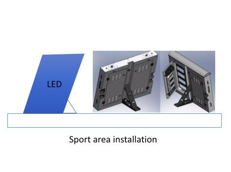 Sport area LED screens installation