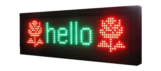 dual color led display