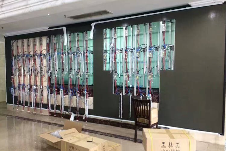 Installation of indoor display screen