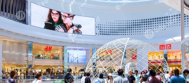 Shopping mall led display