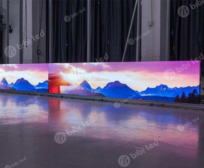 Fine pixel pitch led screen