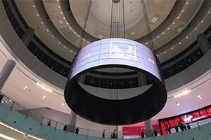 flexible led display panels installed in Italy
