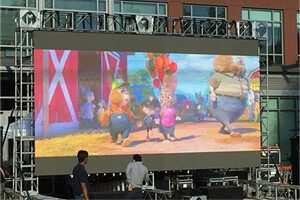 outdoor led screen rental cost